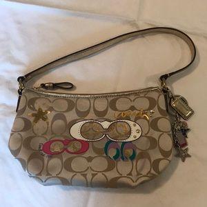 Coach Poppy Signature Applique Small Shoulder Bag
